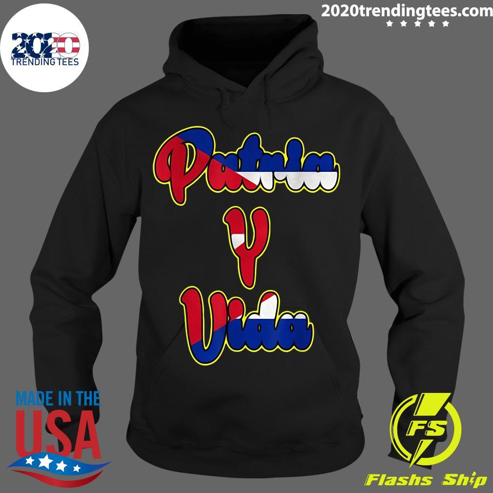 2021 Patria Y Vida Cuba Flag Cuban Revolution Cubano Cuba Shirt Hoodie
