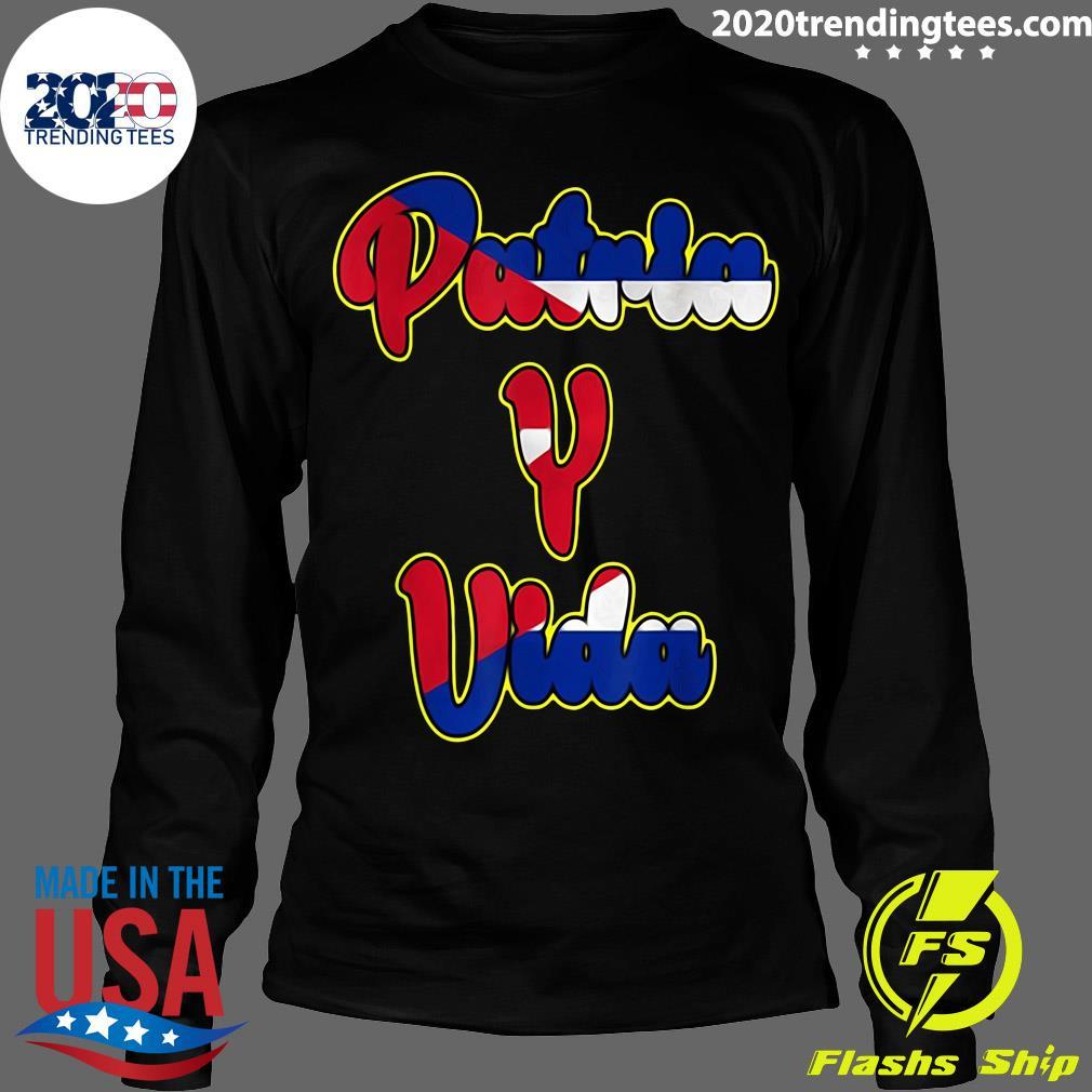 2021 Patria Y Vida Cuba Flag Cuban Revolution Cubano Cuba Shirt Longsleeve