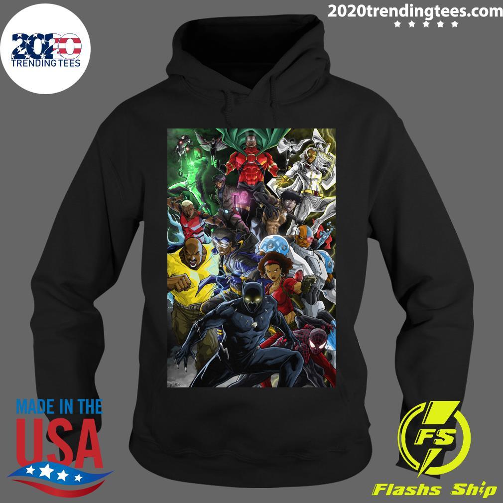 Black Superheroes Shirt Hoodie