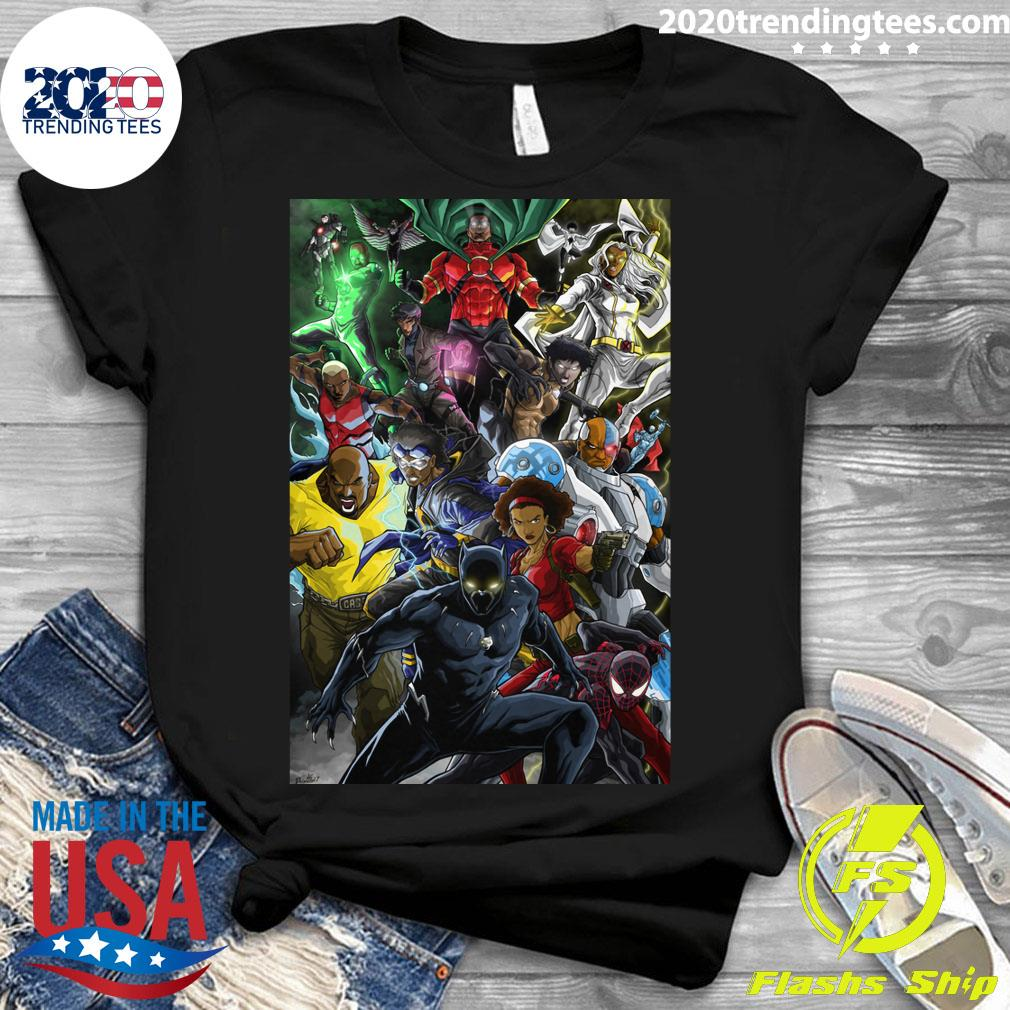 Black Superheroes Shirt Ladies tee