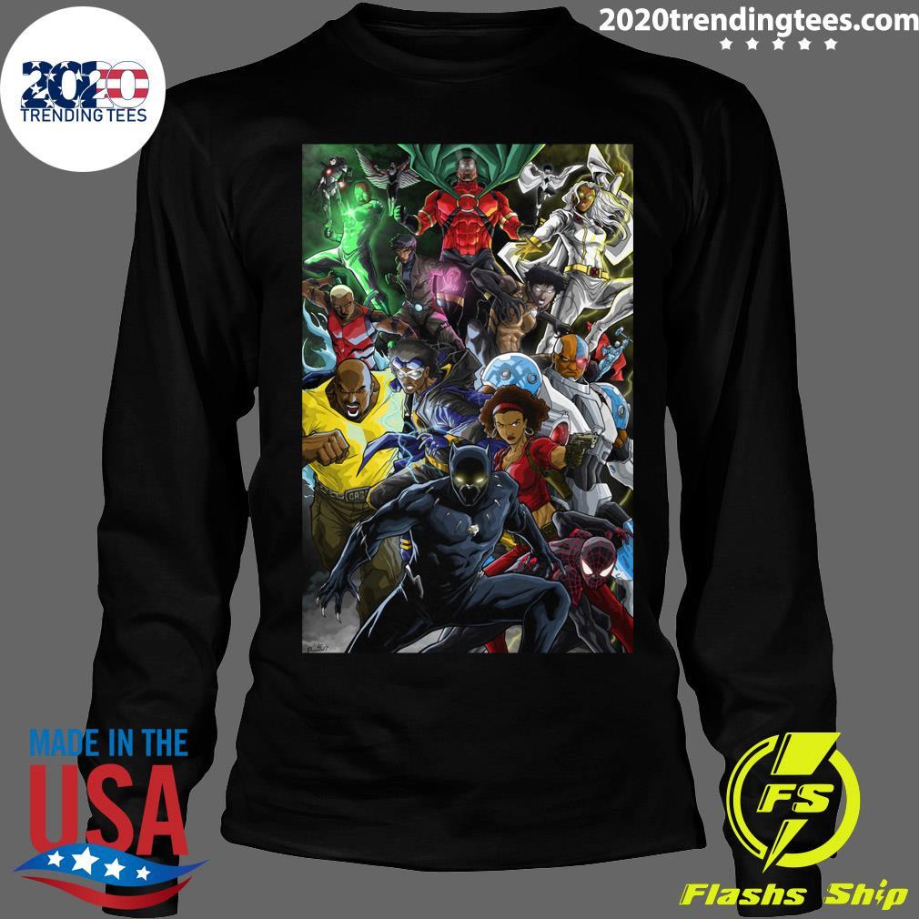 Black Superheroes Shirt Longsleeve