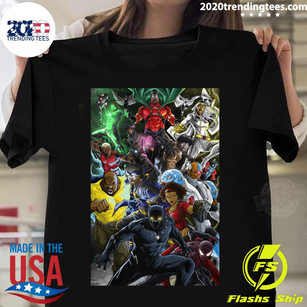 Black Superheroes Shirt