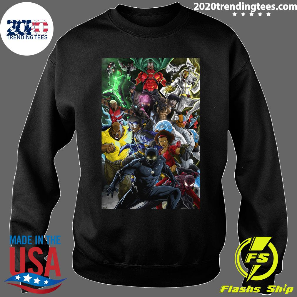 Black Superheroes Shirt Sweater