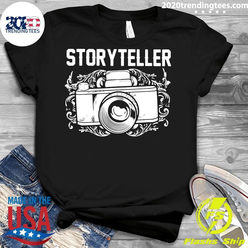 Camera Photographer Storyteller Shirt Ladies tee