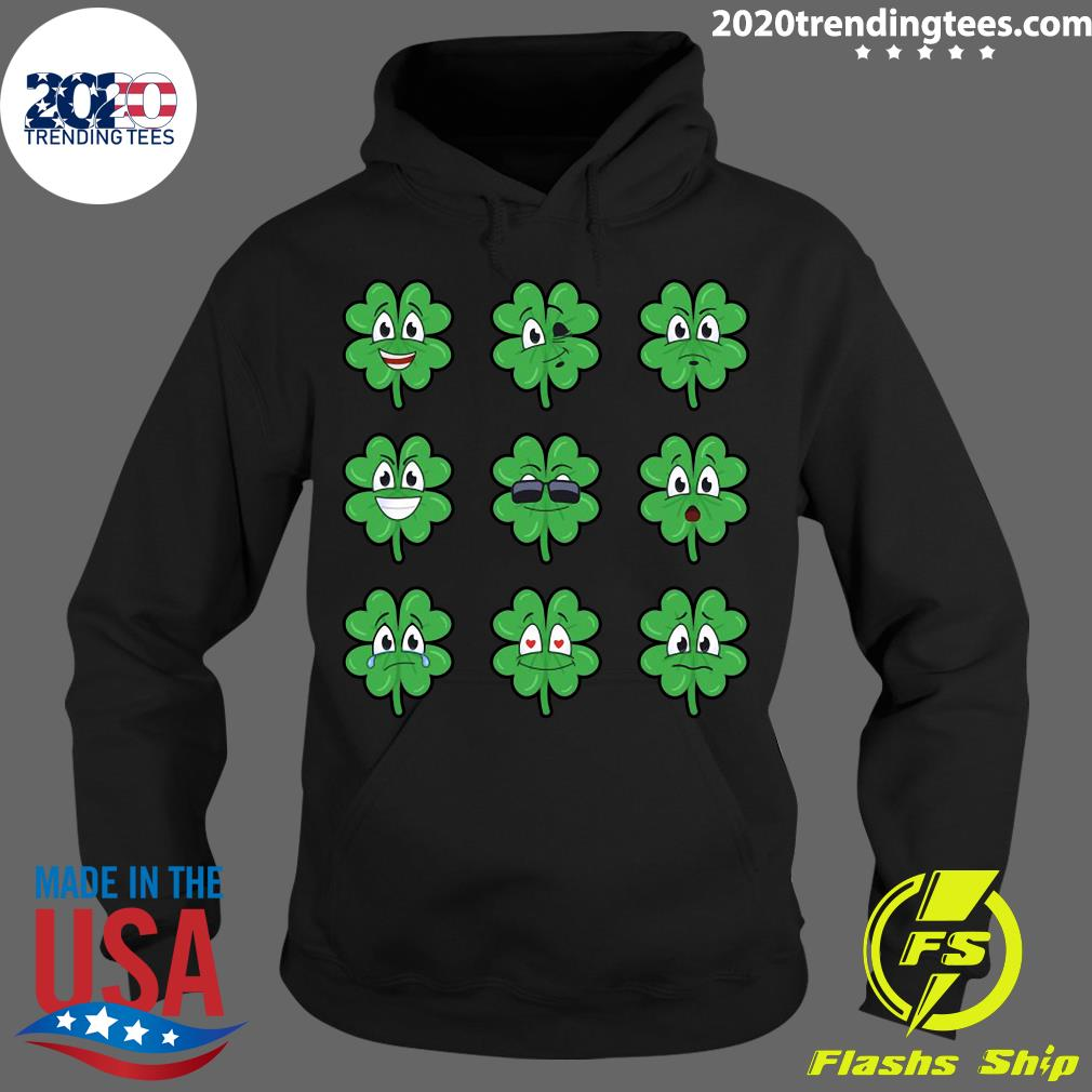 Clover Emojis Emoticons Boys Girls St. Patrick's Day Shirt Hoodie