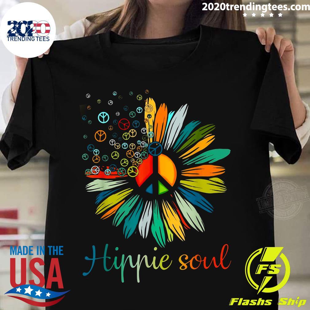 Daisy Peace Sign Hippie Soul Flower Shirt