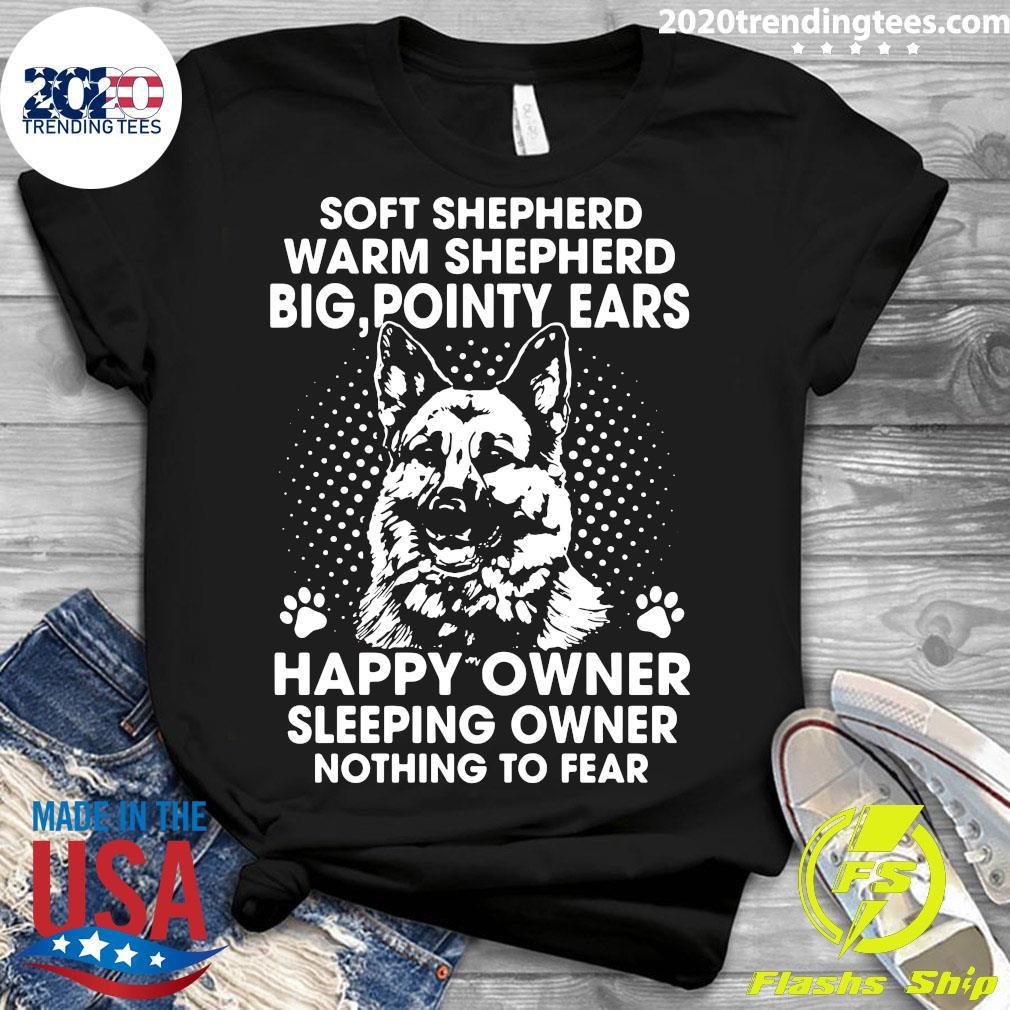 German Shepherd Soft Shepherd Warm Shepherd Big Pointy Ears Happy Owner Shirt Ladies tee