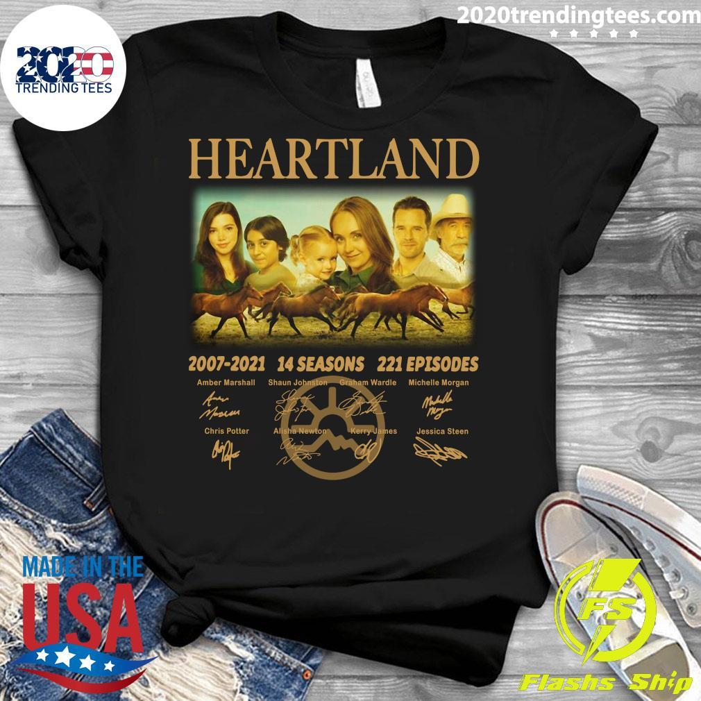 Heartland 2007 - 2021 14 Seasons 221 Episodes Signatures Shirt Ladies tee