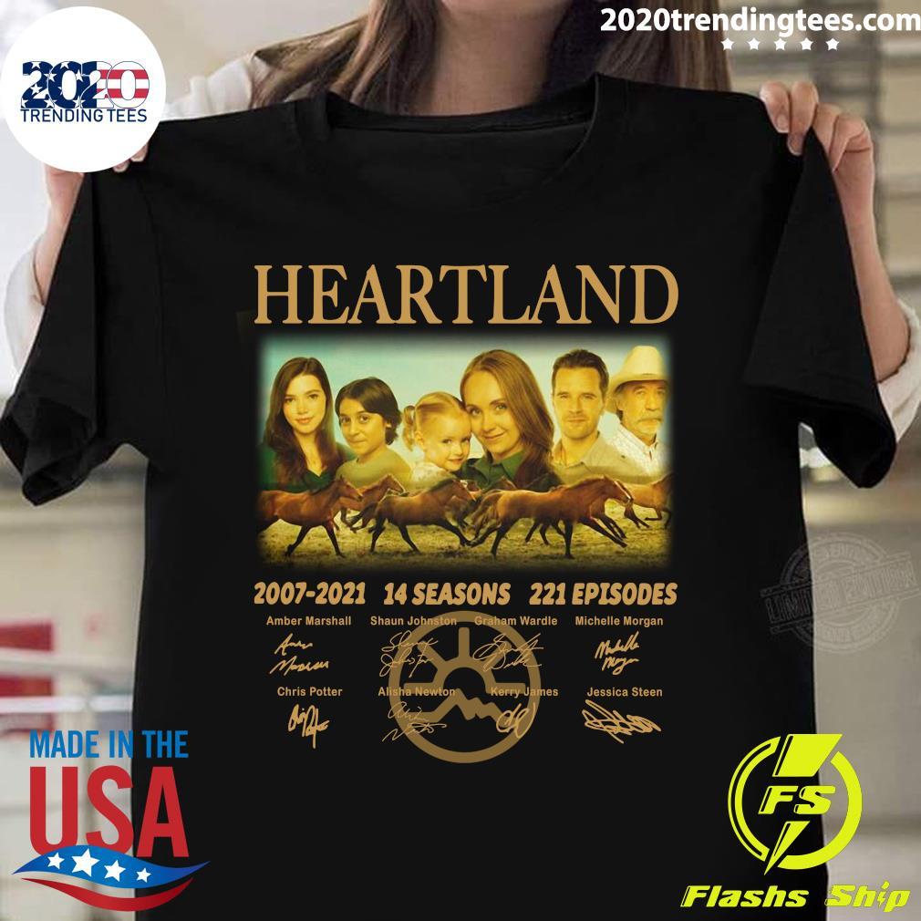Heartland 2007 - 2021 14 Seasons 221 Episodes Signatures Shirt