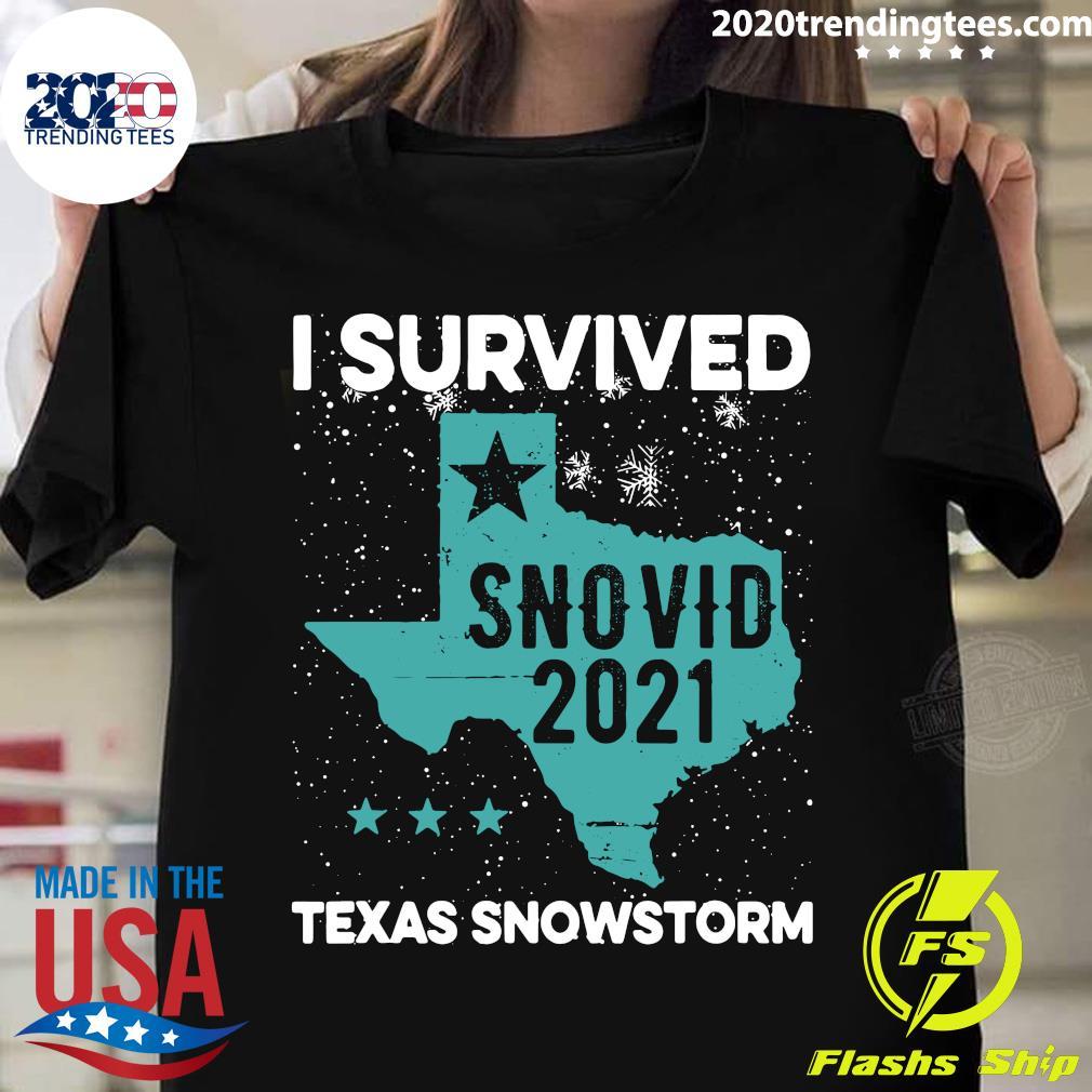 I Survived Snovid-21 Texas Snowstorm Shirt