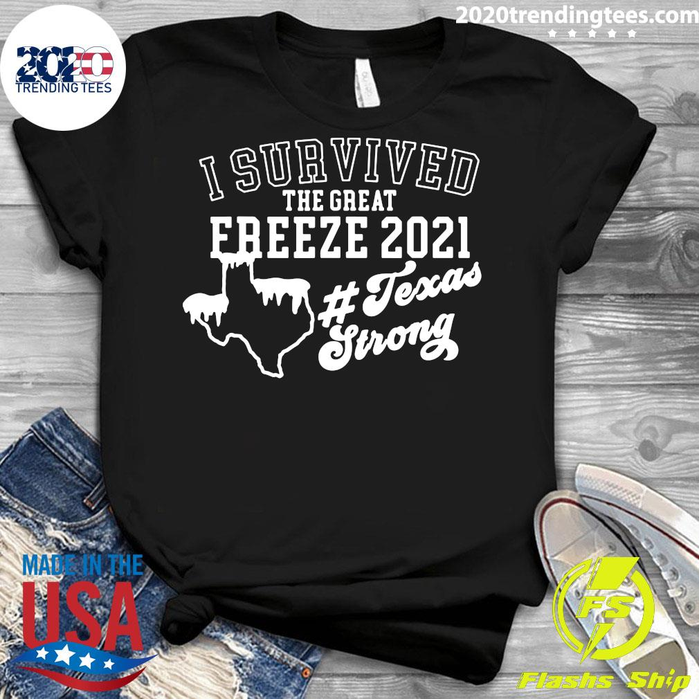 I Survived The Great Freeze 2021 Snovid 2021 Texas Snowstorm Shirt Ladies tee