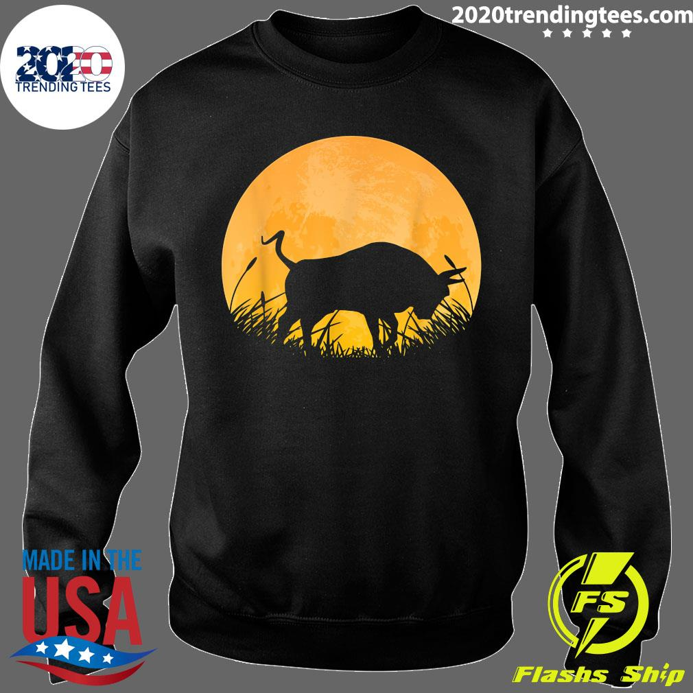 Ox Easy Halloween Outfit Cattle Oxen Moon Costume Vintage Shirt Sweater