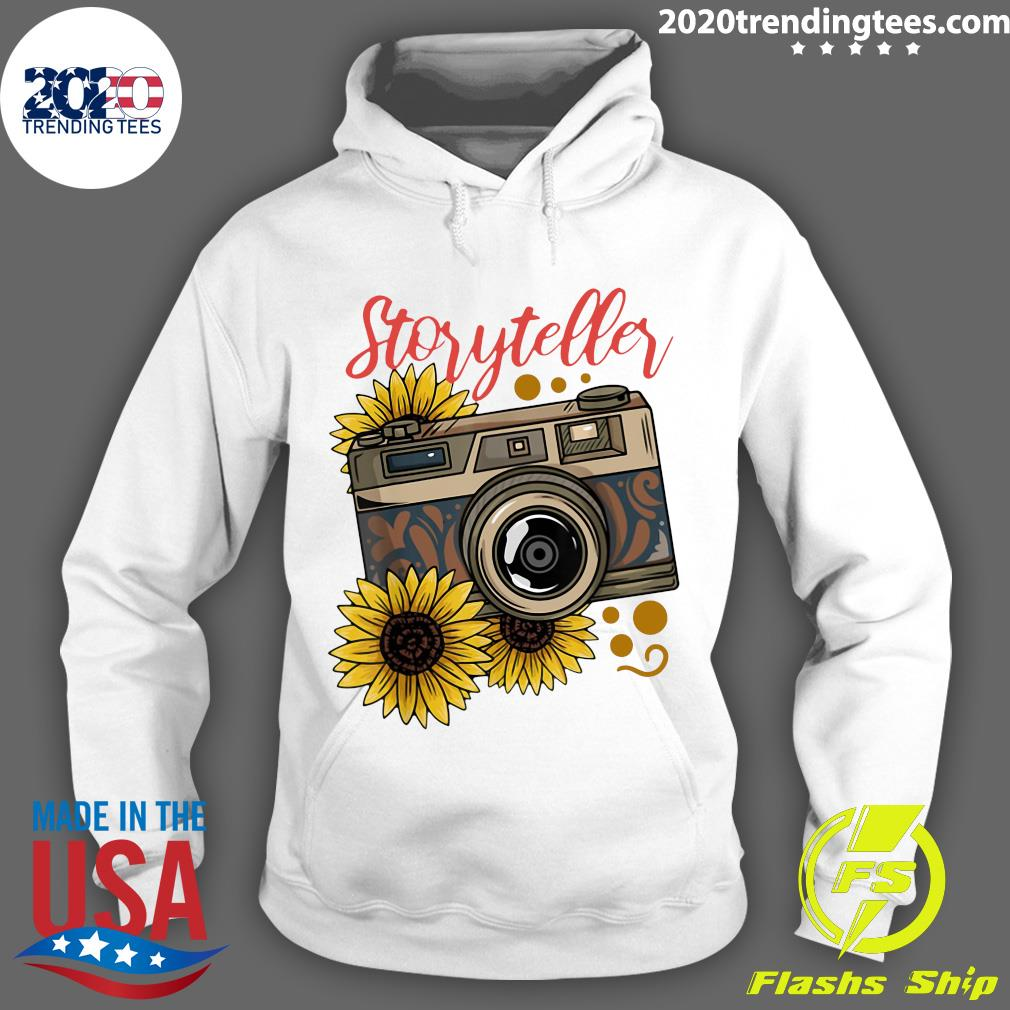 Photography Storyteller Sunflower Camera Shirt Hoodie