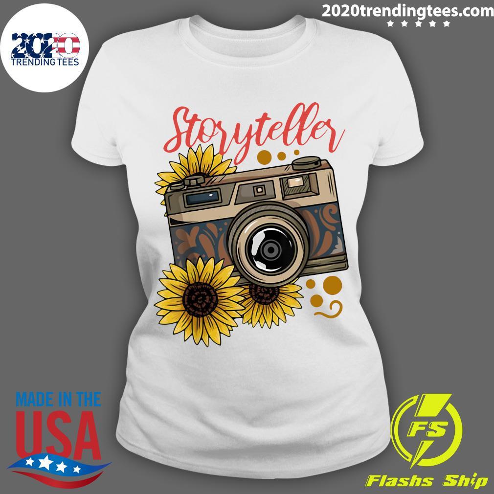 Photography Storyteller Sunflower Camera Shirt Ladies tee