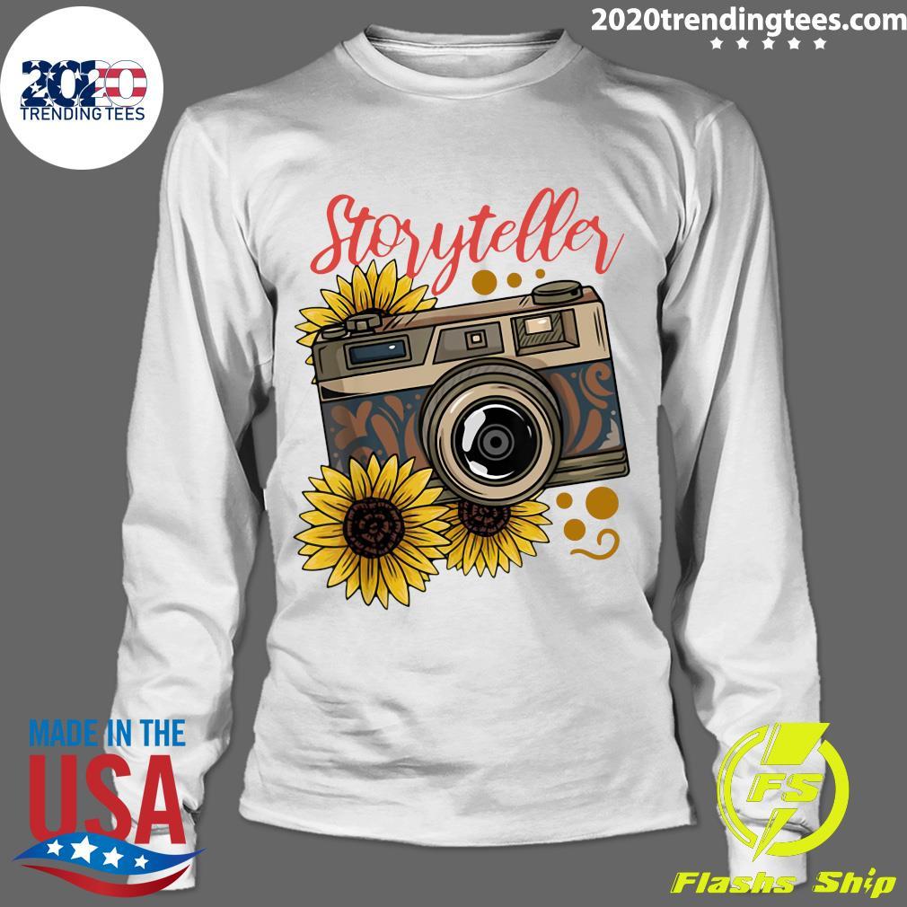 Photography Storyteller Sunflower Camera Shirt Longsleeve