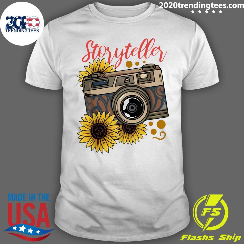 Photography Storyteller Sunflower Camera Shirt