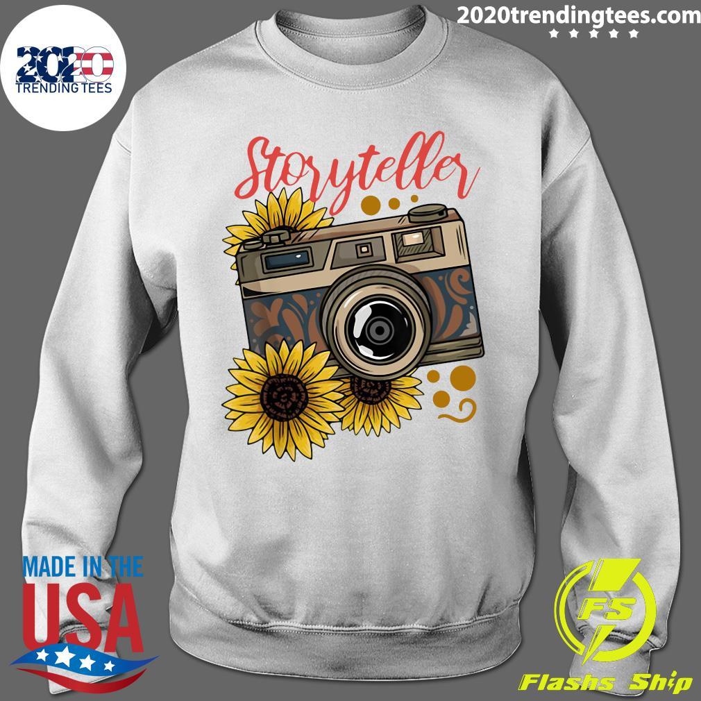 Photography Storyteller Sunflower Camera Shirt Sweater