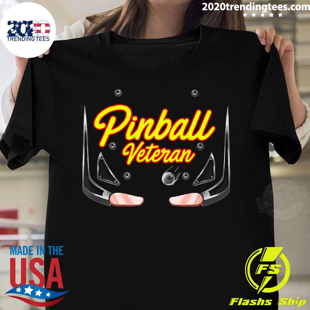 Pinball Veteran Arcade Games Players Shirt