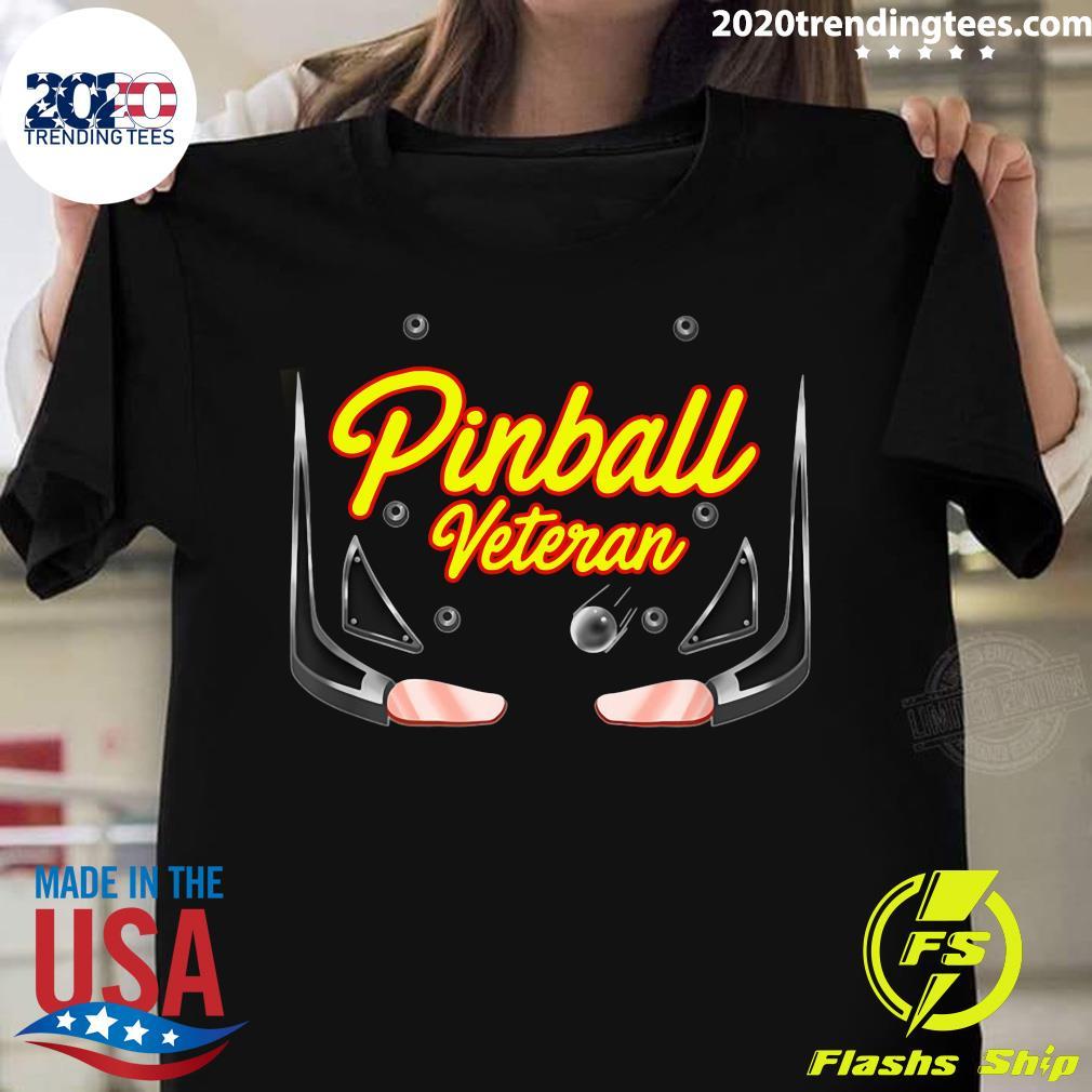 Pinball Veteran Arcade Games Players Shirt