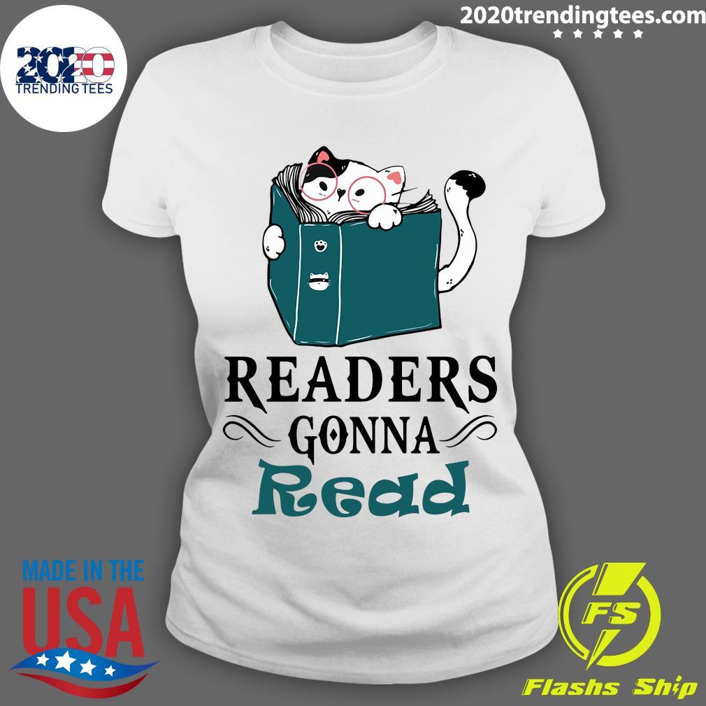 Readers Gonna Read Cat Book Shirt Ladies tee