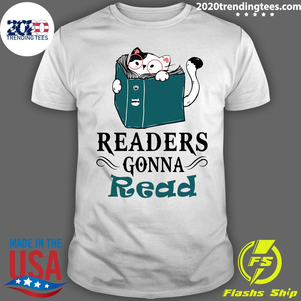 Readers Gonna Read Cat Book Shirt