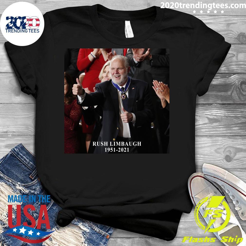 Rush Limbaugh Legend 1951-2021 Shirt Ladies tee