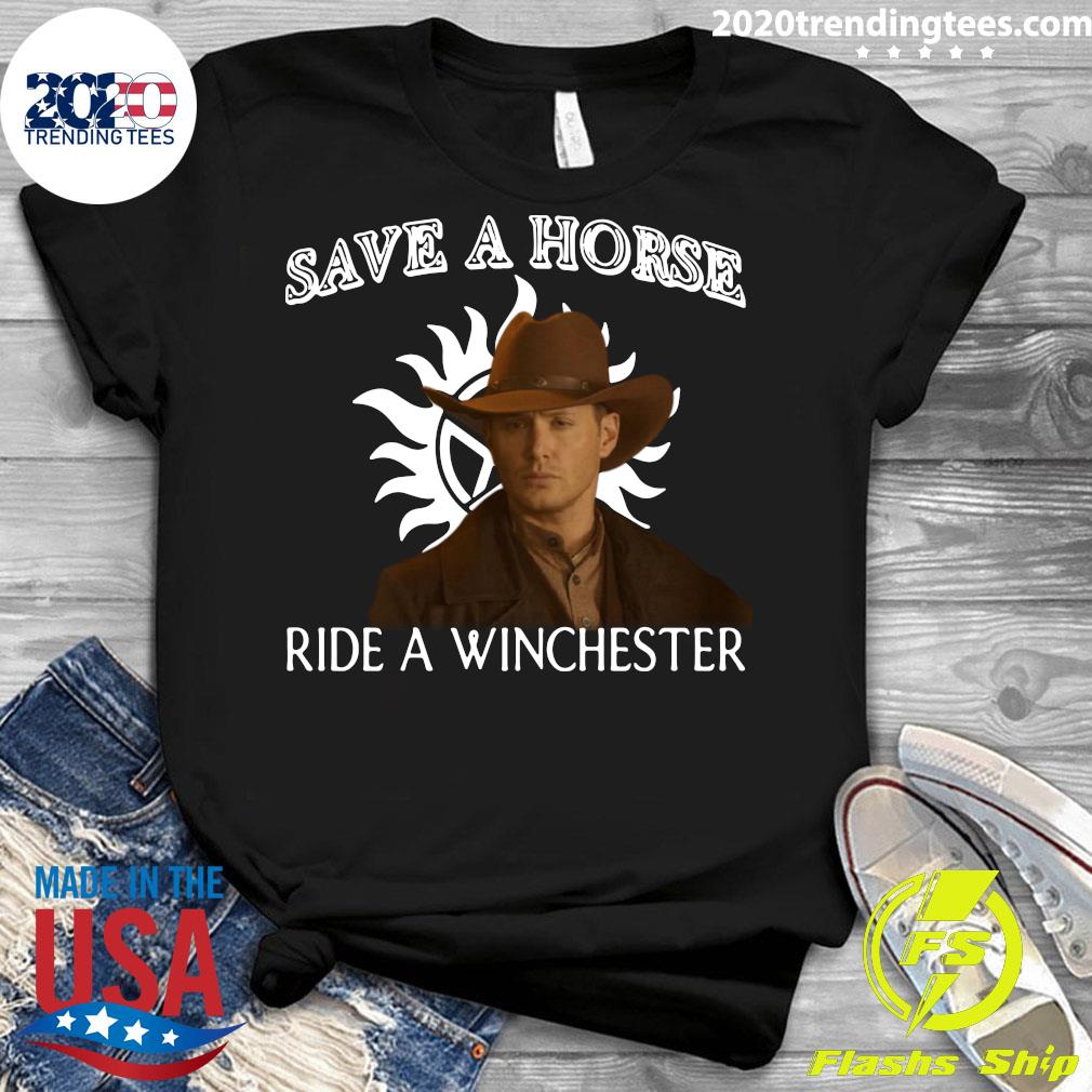 Save A Horse Ride A Winchester Shirt Ladies tee