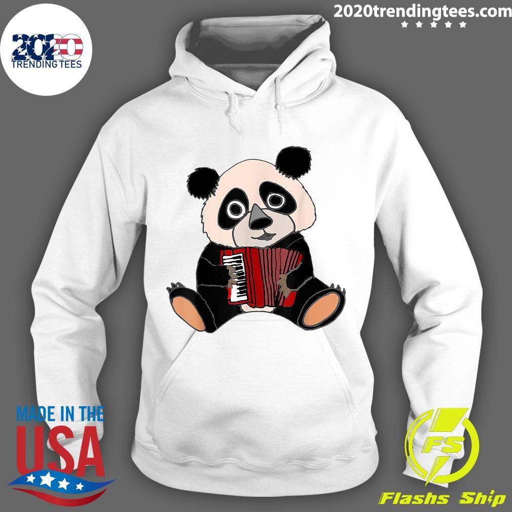 Smilemoreteesa Funny Panda Bear Playing Accordion Shirt Hoodie