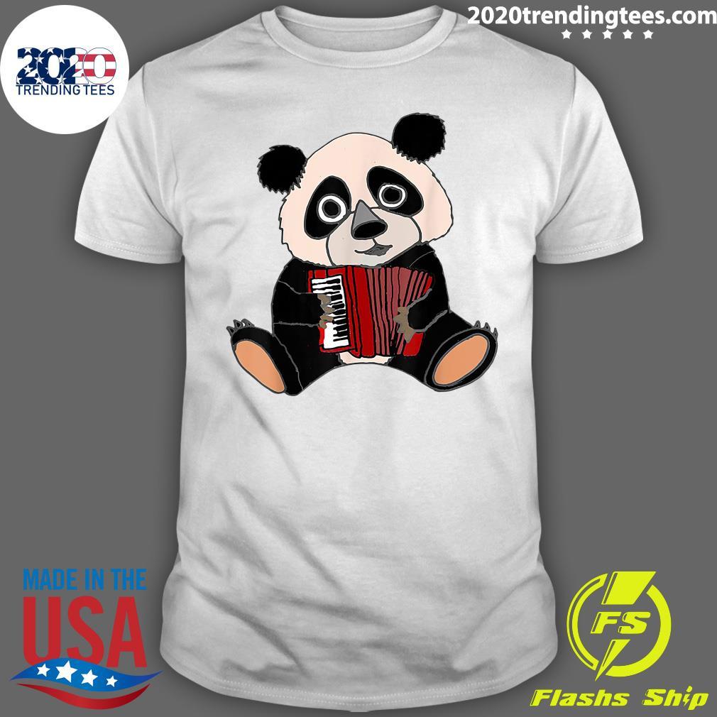 Smilemoreteesa Funny Panda Bear Playing Accordion Shirt