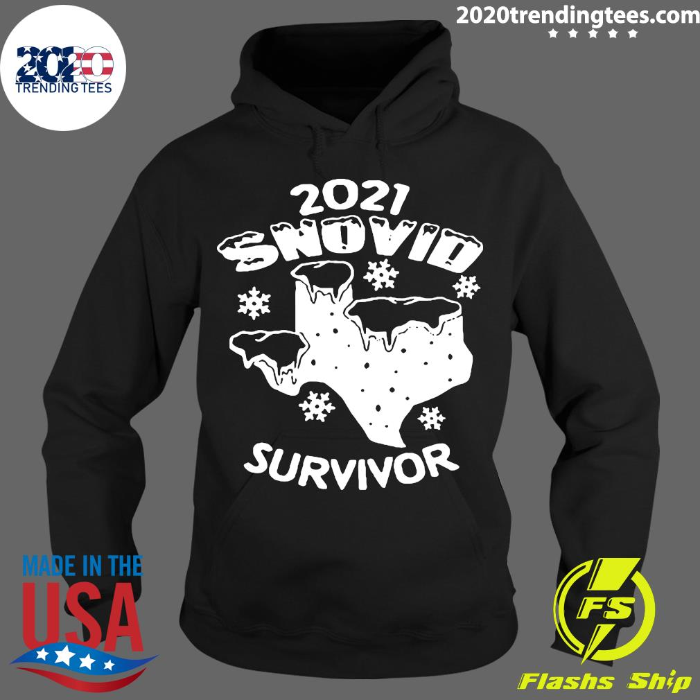 Snovid 2021 Texas Survived Shirt Hoodie