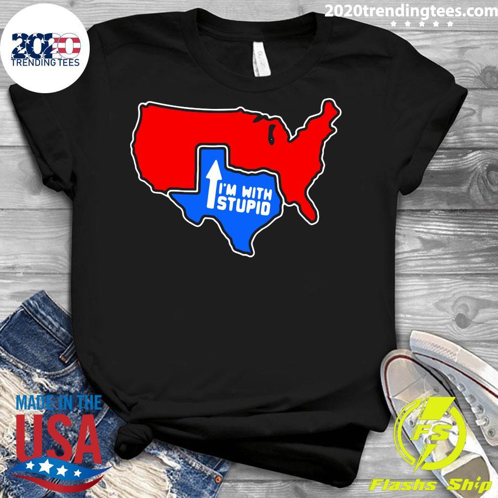 Texas I'm With Stupid Shirt Ladies tee