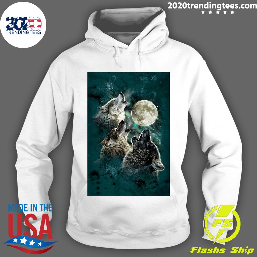 The Mountain Men's Three Wolf And Moon Shirt Hoodie
