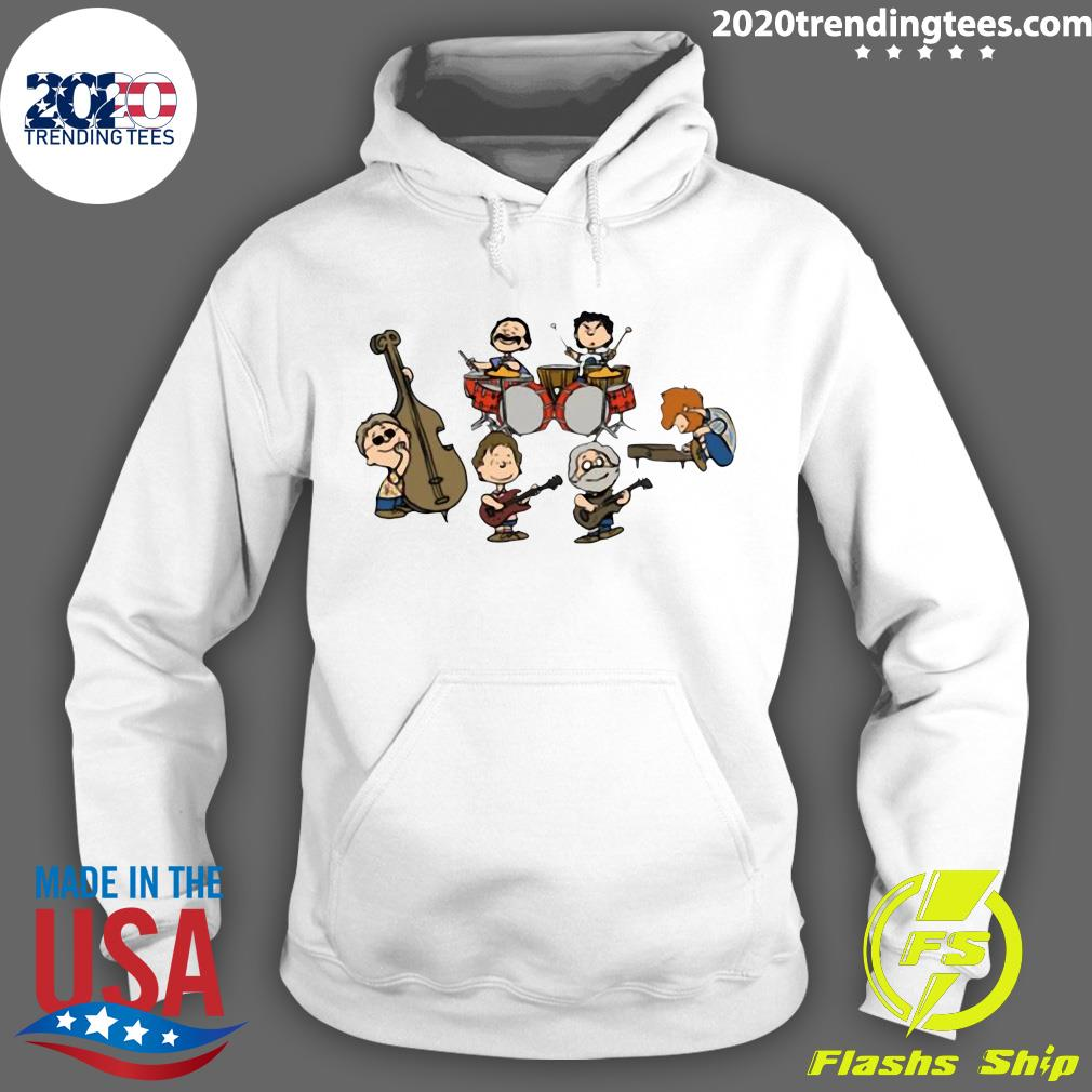 The Peanuts Grateful Dead Cartoon Band Plays Shirt Hoodie