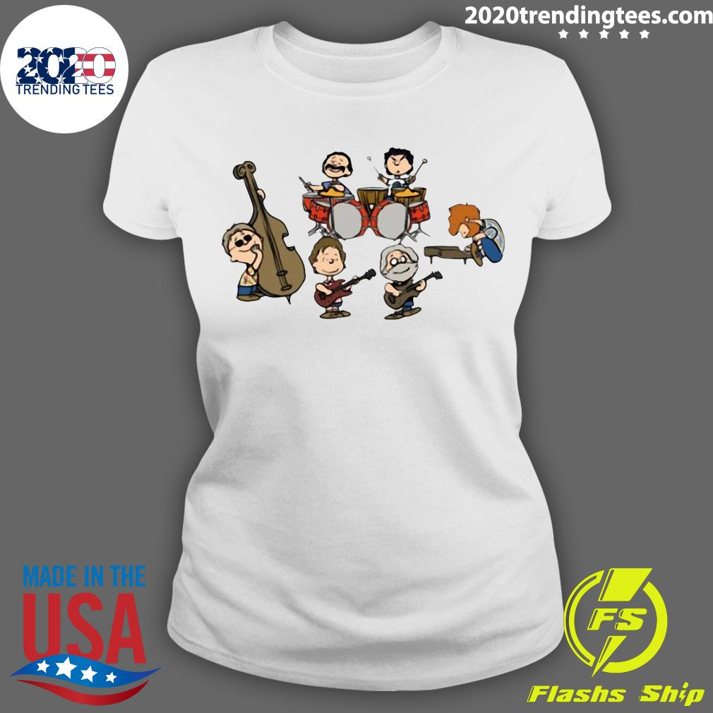 The Peanuts Grateful Dead Cartoon Band Plays Shirt Ladies tee
