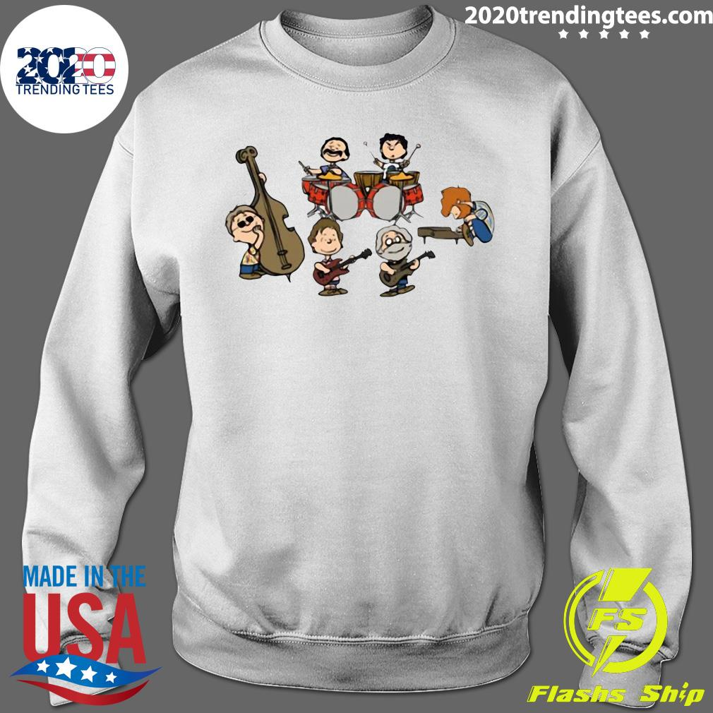 The Peanuts Grateful Dead Cartoon Band Plays Shirt Sweater