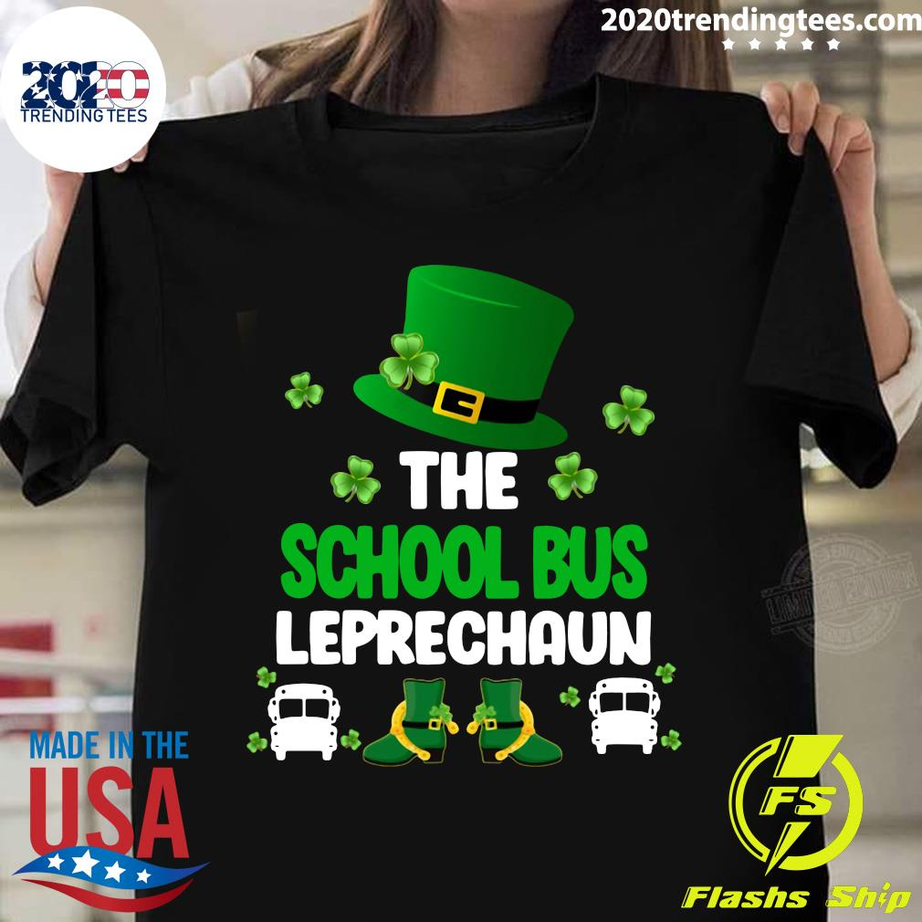 The School Bus Leprechaun St Patrick's Day Shirt