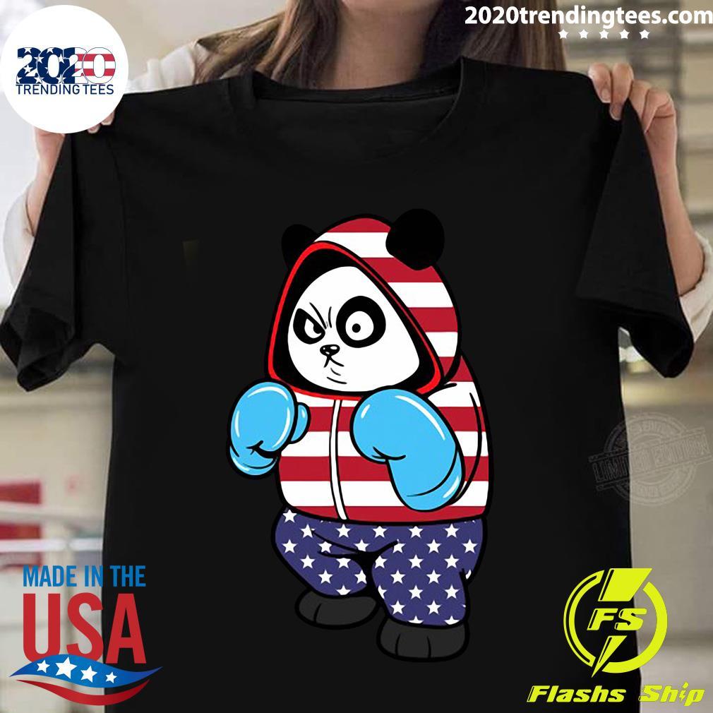USA United States Boxing Panda Bear Shirt