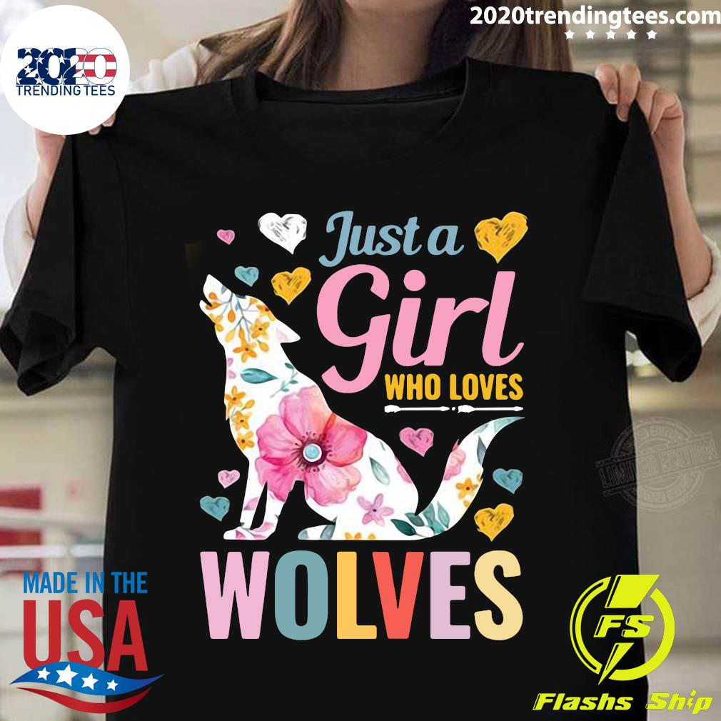 Wolf Just A Girl Who Loves Wolves Shirt