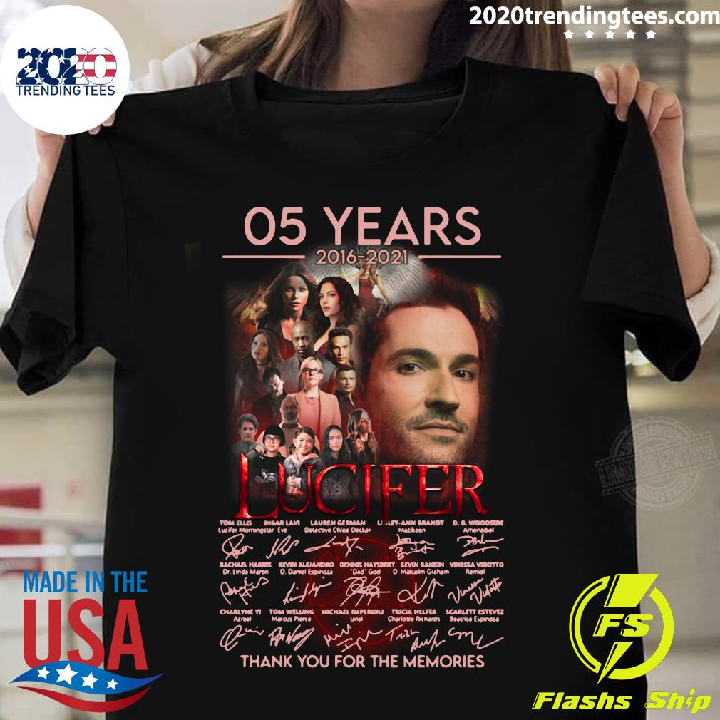 05 Years 2016 - 2021 Lucifer Signatures Thank You For The Memories Shirt