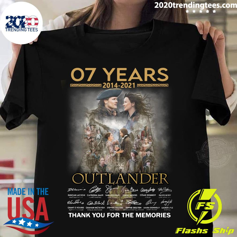 07 Years 2014 - 2021 Outlander Signatures Thank You For The Memories Shirt