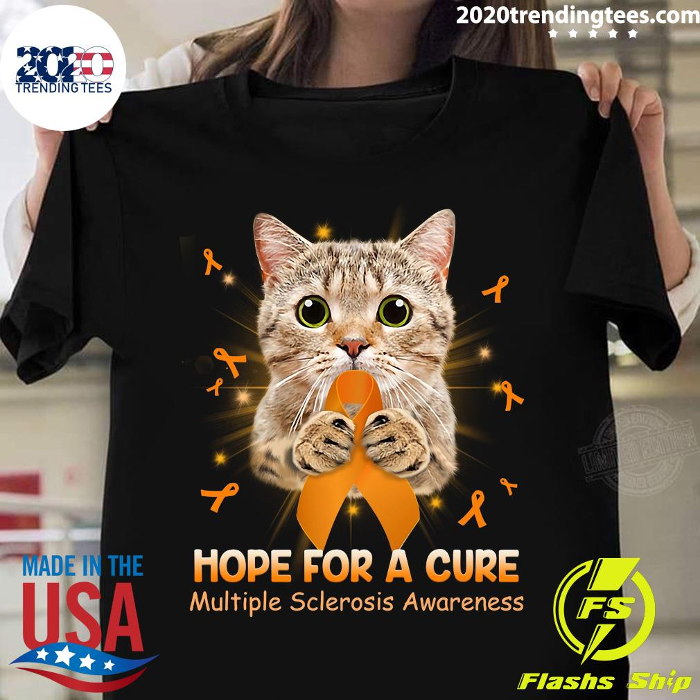 Cat Hope For A Cure Multiple Sclerosis Awareness Shirt