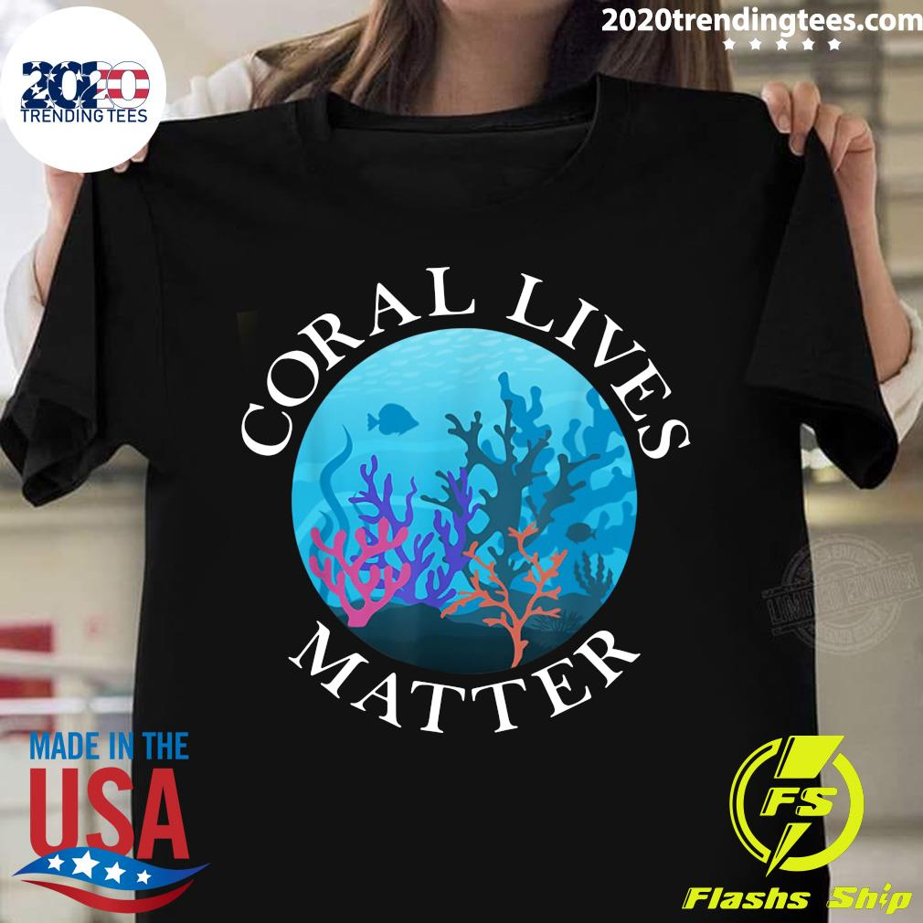 Fish Ocean Coral Lives Matter Shirt