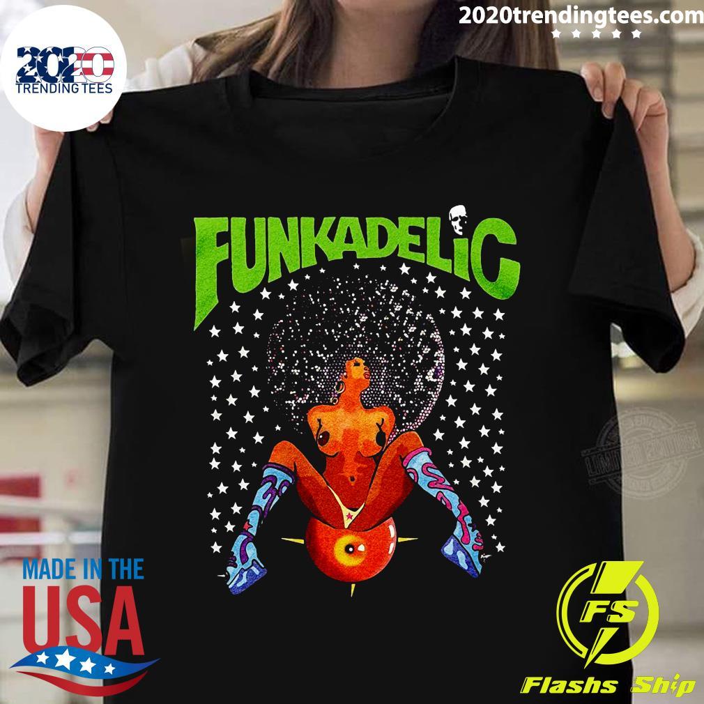 Funkadelic Afro Girl Black Shirt