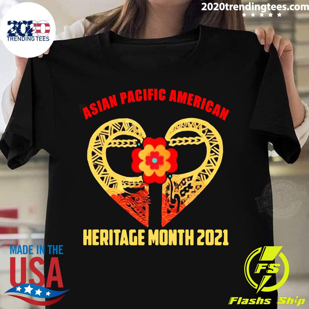 Heart Asian Pacific American Heritage Month 2021 Shirt