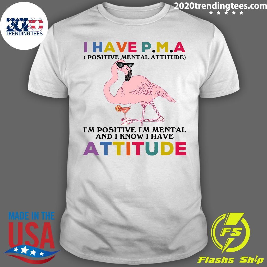 Heron I Have P.m.a Positive Mental Attitude I'm Positive I'm Mentally And I Know I Have Attitude Shirt