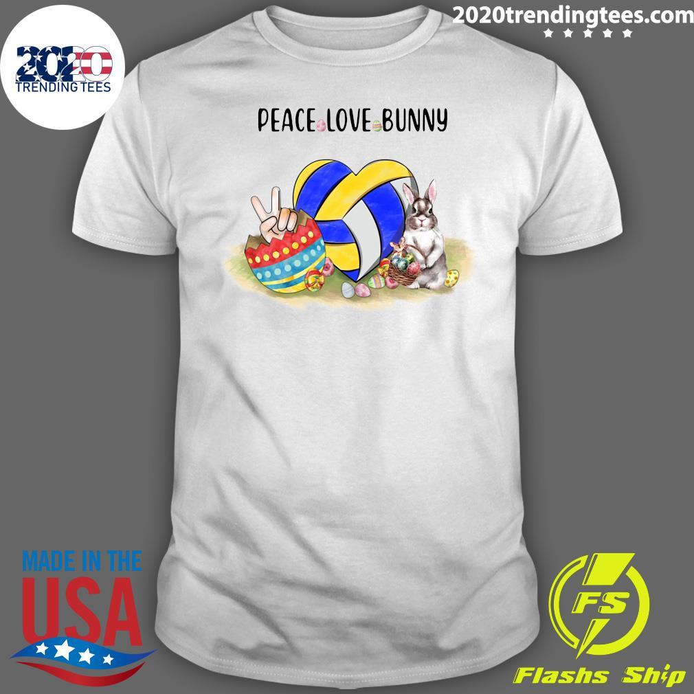 Rabbit Peace Love Bunny Shirt