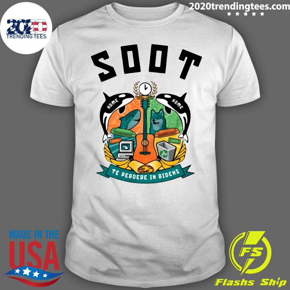 Soot Te Perdre In Ridens Guitar Fish And Dog Shirt