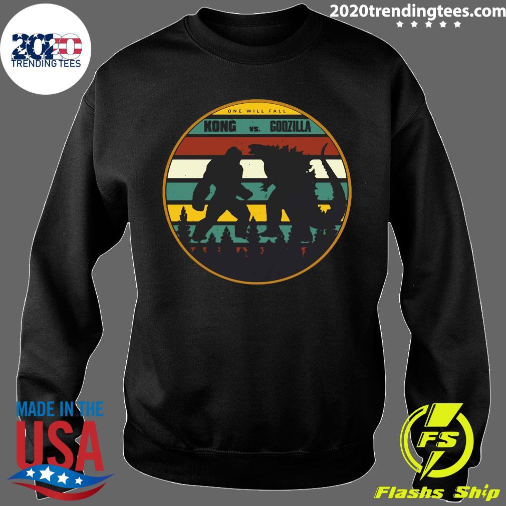 2021 One Will Fall Godzilla Vs Kong Vintage Shirt Sweater