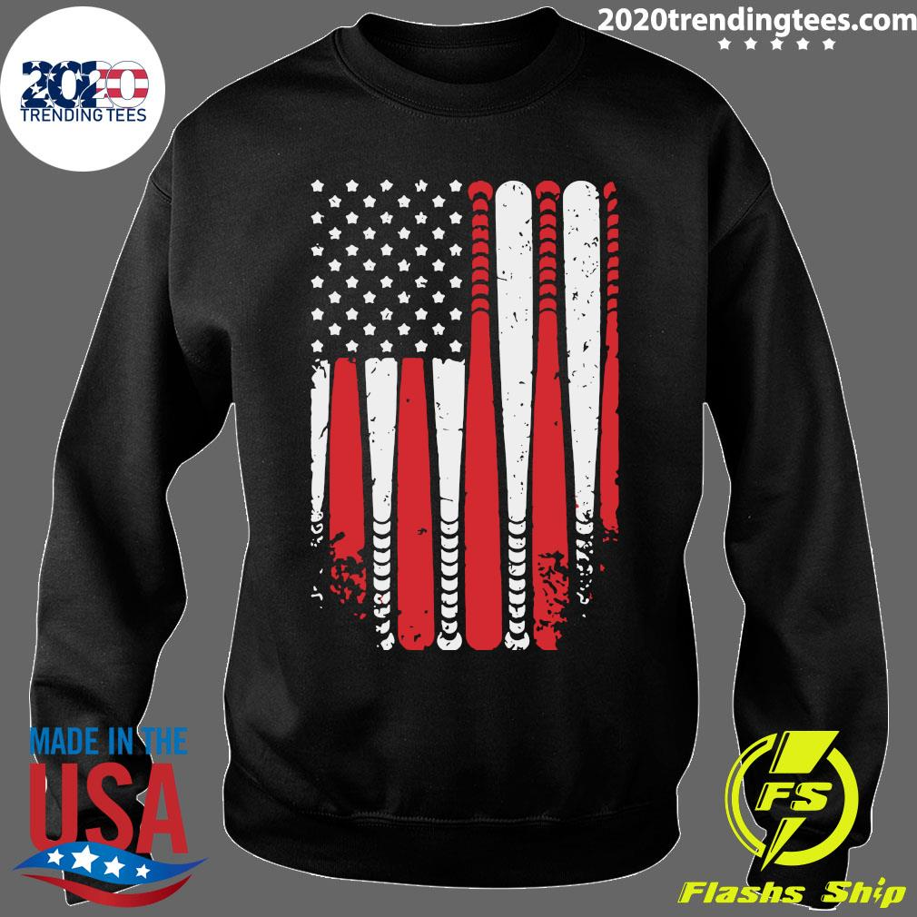 Baseball American Flag Shirt Sweater