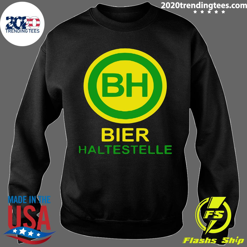 Bier Haltestelle Shirt Sweater